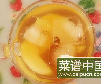 蜜桃红茶冰