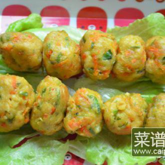 豆腐萝卜丸子