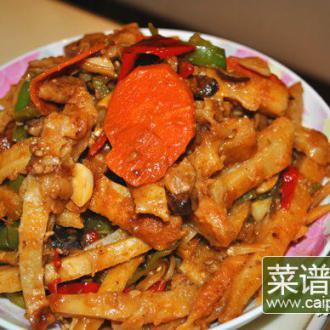 豆豉辣椒烩饼