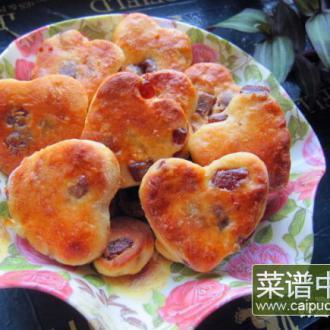 酸奶山楂糕爱心饼干