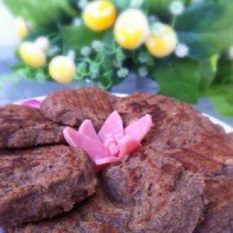 红薯豆渣黑芝麻饼