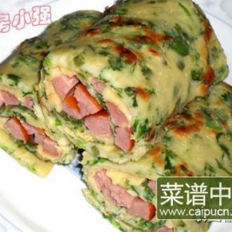 香菜蛋饼卷