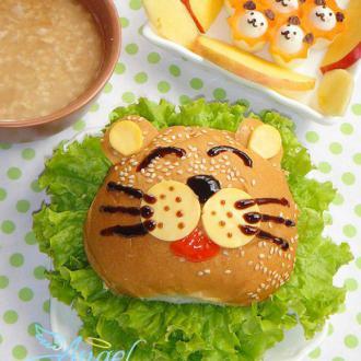 狮子一家汉堡套餐