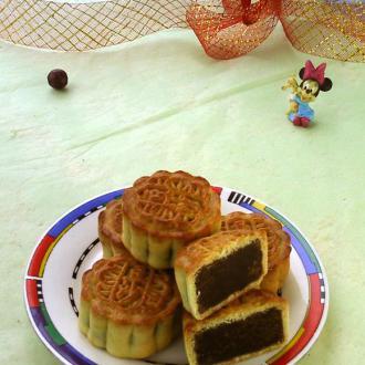 台式蜂蜜绿豆蓉月饼