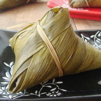 蜜枣花生粽