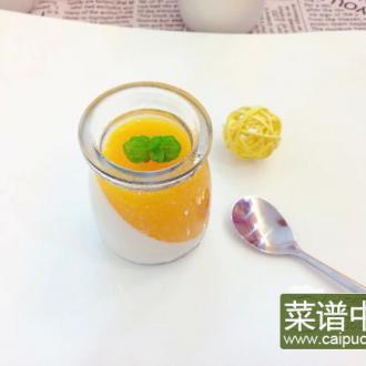 芒果椰奶布丁#多效护