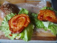 新奥尔良烤鸡肉汉堡的做法步骤13