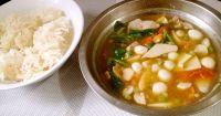 口蘑锅巴汤的做法步骤13