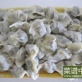 香菇青菜肉馅饺