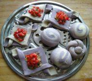 千层紫薯双色鲜肉饼的做法步骤18