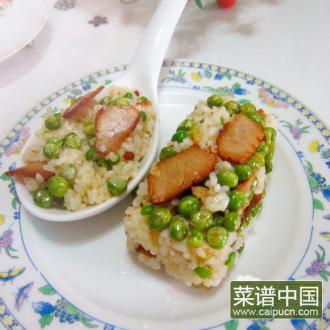 青豆叉烧饭