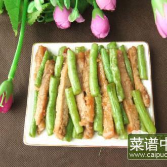 豆角炒猪扒