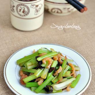 凉拌海米芹菜