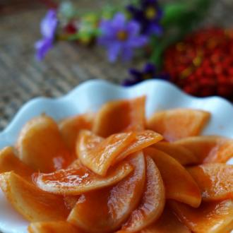 韩式腌甜辣萝卜片