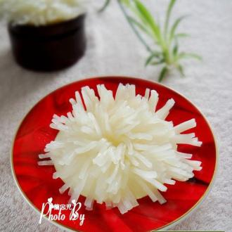 酸甜泡椒菊花萝卜