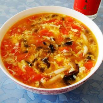 西红柿海米蘑菇汤