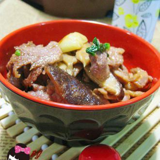 花菇炒肉片
