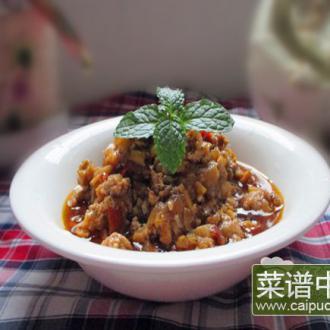 洋葱杏鲍菇猪肉酱