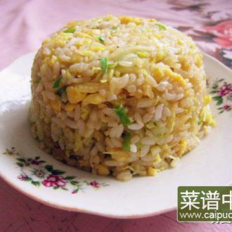 白菜芯蛋炒饭
