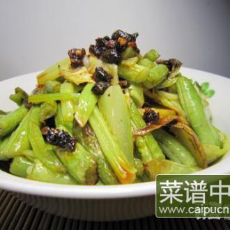 风味豆豉豆角干锅
