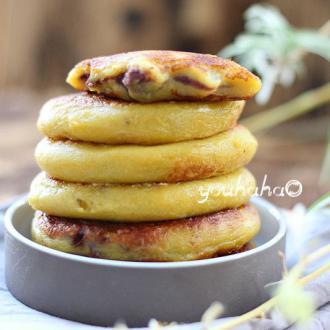 红薯糯米豆沙饼