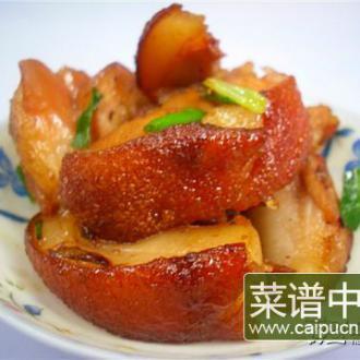 蒜蓉酱油炒烧猪肉