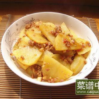 肉末炖土豆片