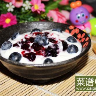 自制酸奶(蓝莓味)