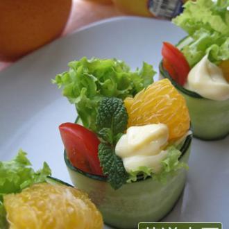 甜橙蔬果盅