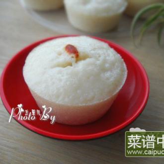 白糖米发糕
