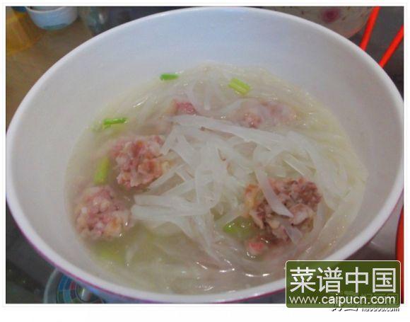 萝卜肉丸汤—湖北老家的年味丸子