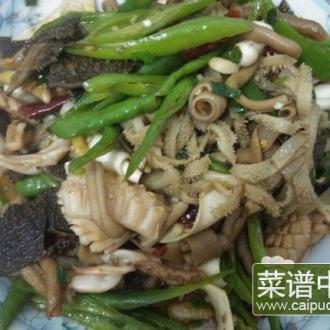 青椒炒牛杂海鲜