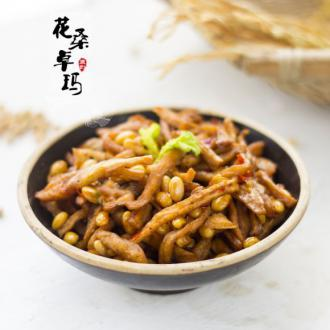 萝卜干焖黄豆