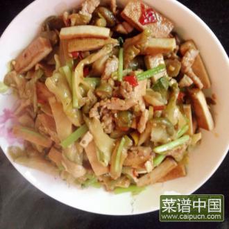 芹菜榨菜干子肉丝