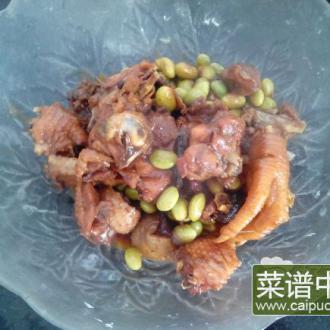 小鸡烧青豆