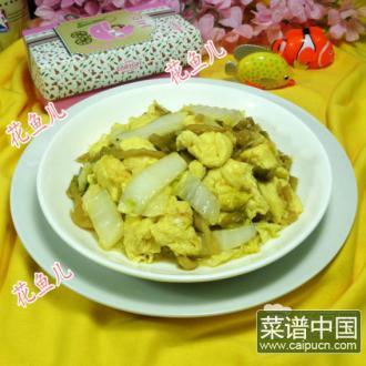 榨菜鸡蛋炒白菜