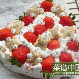 小熊草莓蛋糕