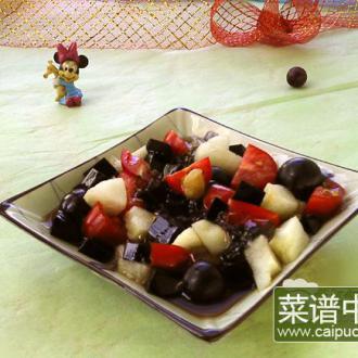 鲜果仙草冰粉