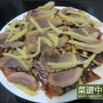 姜丝腊肉蒸鱼干