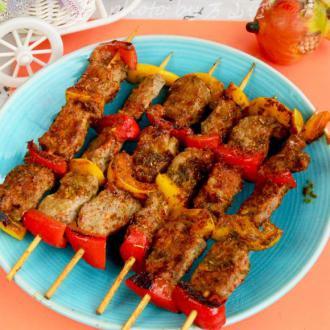 彩椒羊肉串