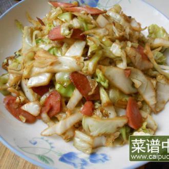 香肠炒橄榄