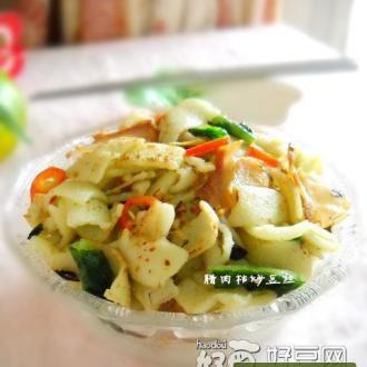 武汉小吃之腊肉枯炒豆