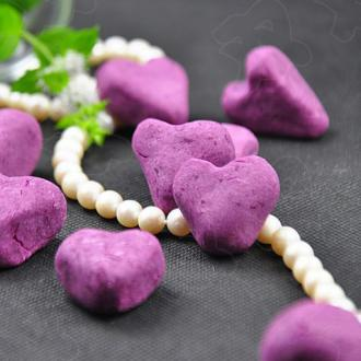 心形紫薯饼