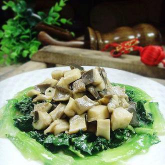 鲜菇扒油菜