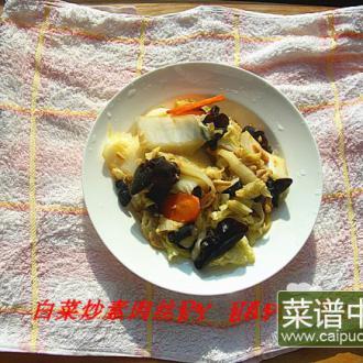 白菜炒素肉丝