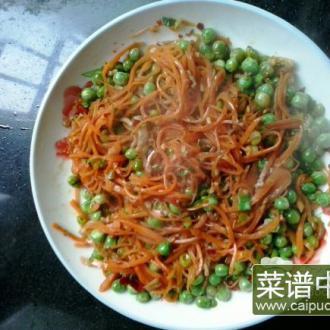 胡萝卜炒素肉丝