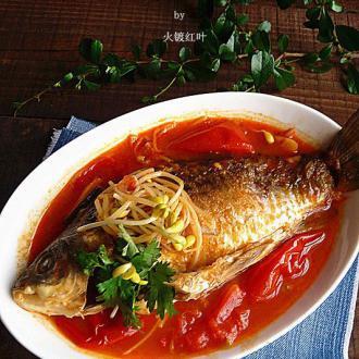 酸辣番茄焖鲫鱼