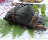 香煎肉粽的做法步骤1