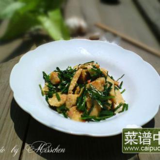 虾卷炒韭菜