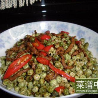 干煸嫩碗豆